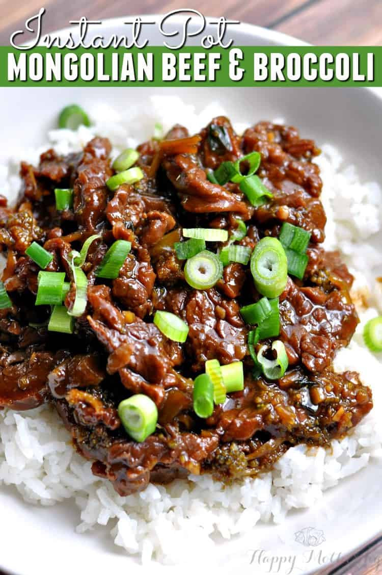 Instant Pot Beef And Broccoli  Instant Pot Mongolian Beef & Broccoli Recipe Happy Mothering