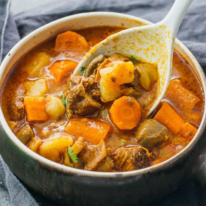 Instant Pot Beef Stew  Instant pot beef stew with potatoes savory tooth