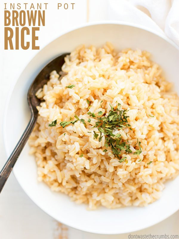 Instant Pot Brown Rice Recipe  Instant Pot Brown Rice Recipe Don t Waste the Crumbs