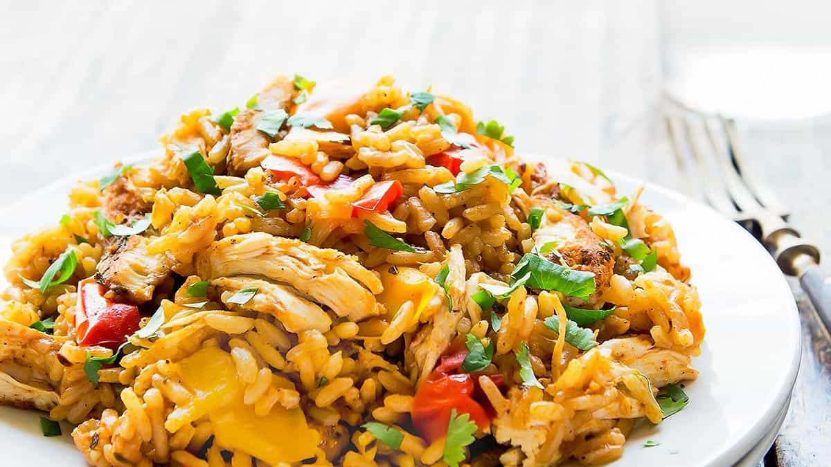Instant Pot Chicken Fried Rice  Instant Pot Chicken and Rice VIDEO Leelalicious
