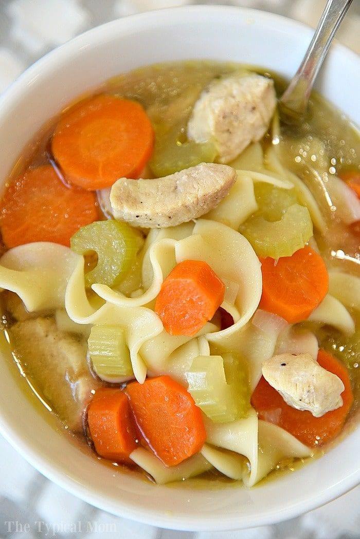Instant Pot Chicken Noodle Soup  5 Minute Instant Pot Chicken Noodle Soup Pressure Cooker