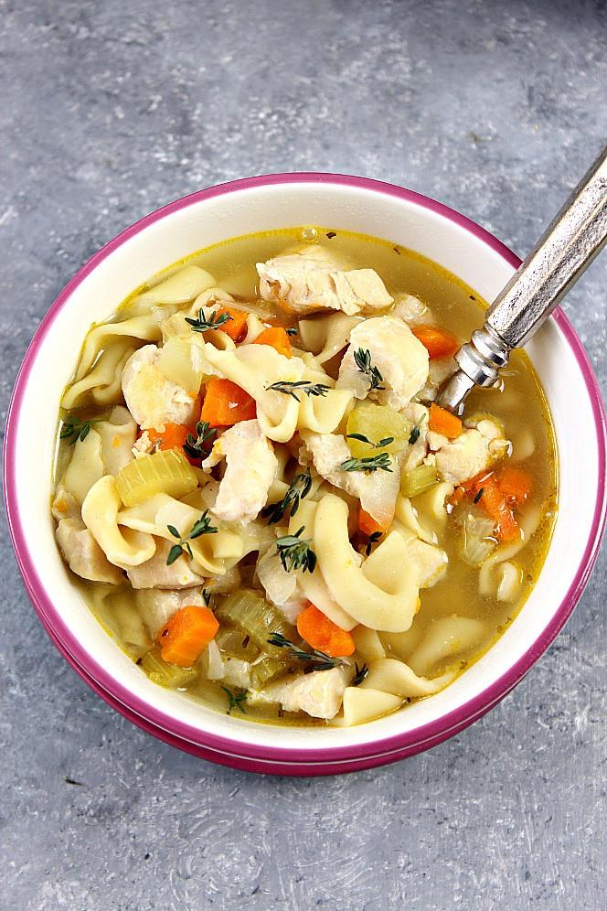 Instant Pot Chicken Noodle Soup  Instant Pot Chicken Noodle Soup Recipe Crunchy Creamy Sweet