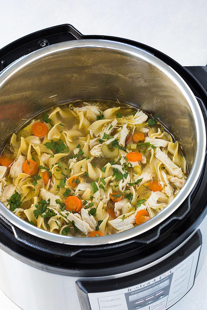 Instant Pot Chicken Noodle Soup  Instant Pot Chicken Noodle Soup