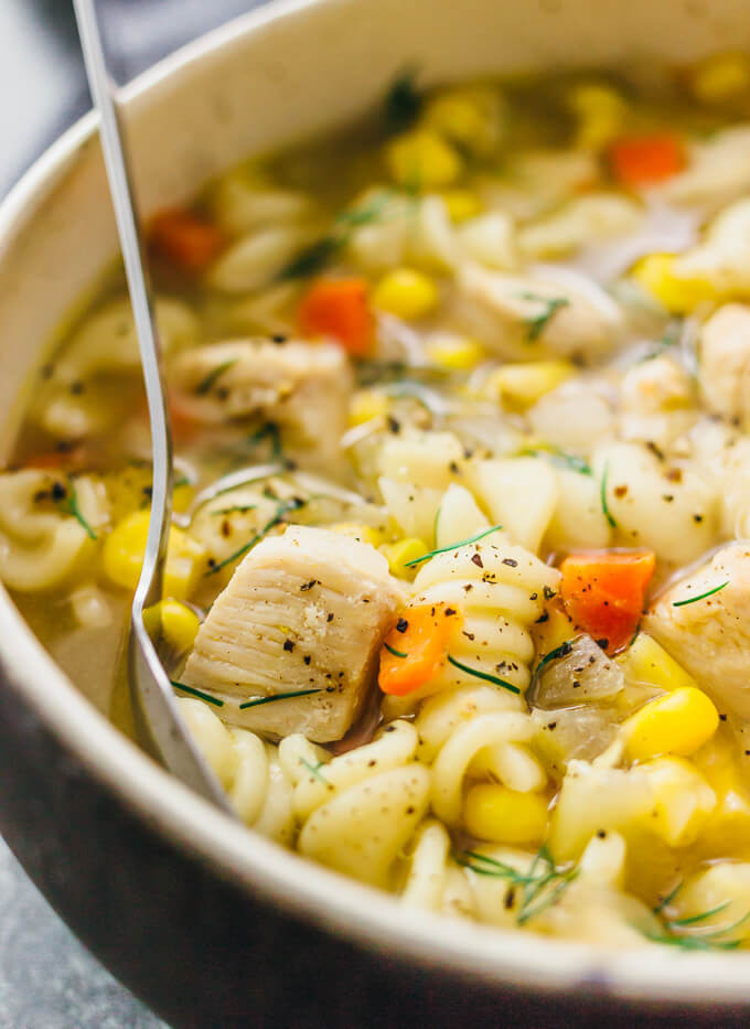 Instant Pot Chicken Noodle Soup  Instant pot chicken noodle soup savory tooth