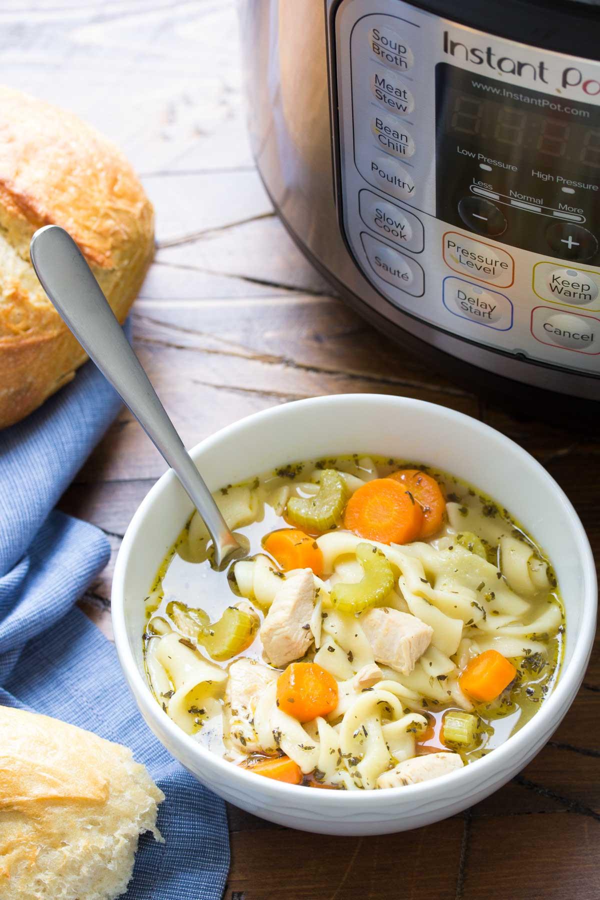 Instant Pot Chicken Noodle Soup  Instant Pot Chicken Noodle Soup or Stovetop Kristine s