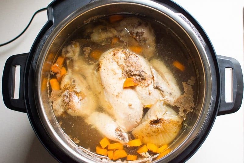 Instant Pot Chicken Soup Whole Chicken  Instant Pot Chicken Noodle Soup iFOODreal Healthy