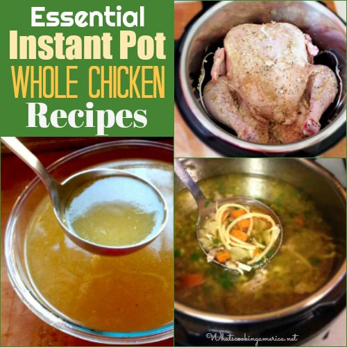 Instant Pot Chicken Soup Whole Chicken  Easy Instant Pot Whole Chicken Recipes in the Pressure Cooker