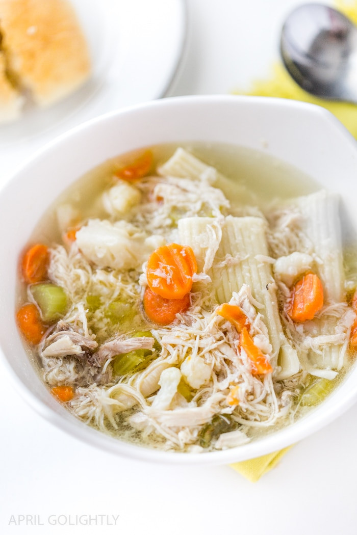 Instant Pot Chicken Soup Whole Chicken  Instant Pot Chicken Soup Recipe with Whole Chicken April