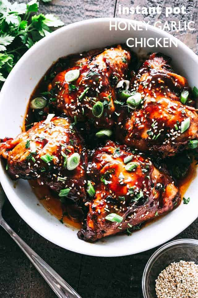 Instant Pot Chicken Thigh Recipes  Instant Pot Honey Garlic Chicken Thighs Recipe