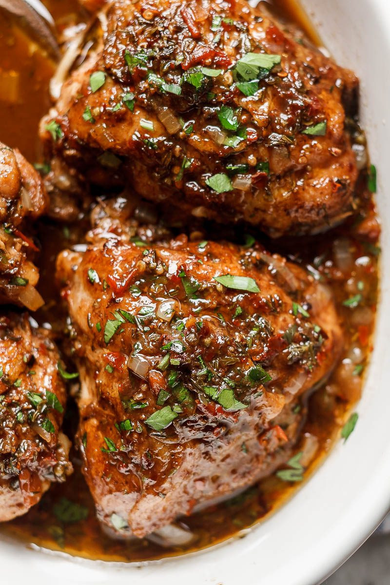 Instant Pot Chicken Thigh Recipes  Honey Balsamic Instant Pot Chicken — Eatwell101