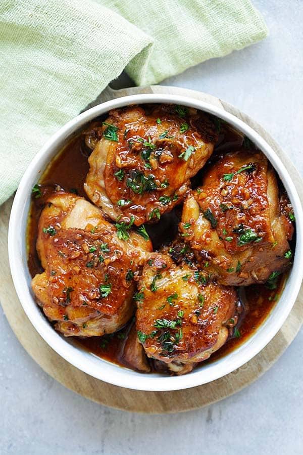 Instant Pot Chicken Thigh Recipes  Instant Pot Honey Garlic Chicken