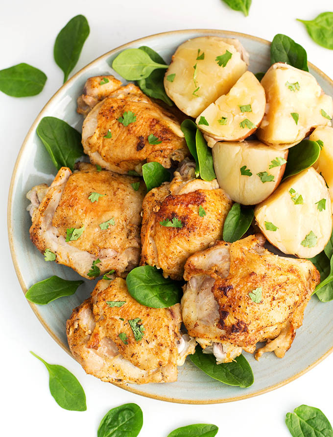 Instant Pot Chicken Thigh Recipes  Instant Pot Chicken Thighs with Potatoes