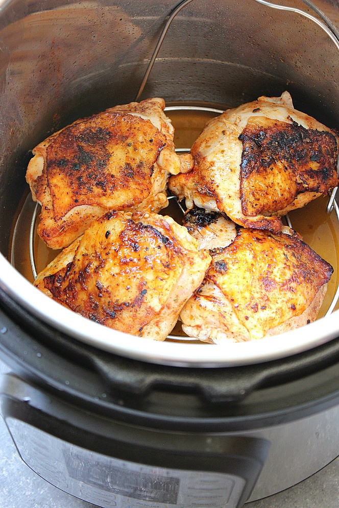 Instant Pot Chicken Thighs  Instant Pot Chicken Thighs Recipe Crunchy Creamy Sweet