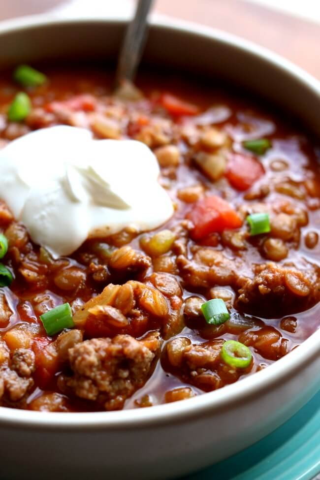 Instant Pot Chili Recipes  Instant Pot Ground Turkey Lentil Chili 365 Days of Slow