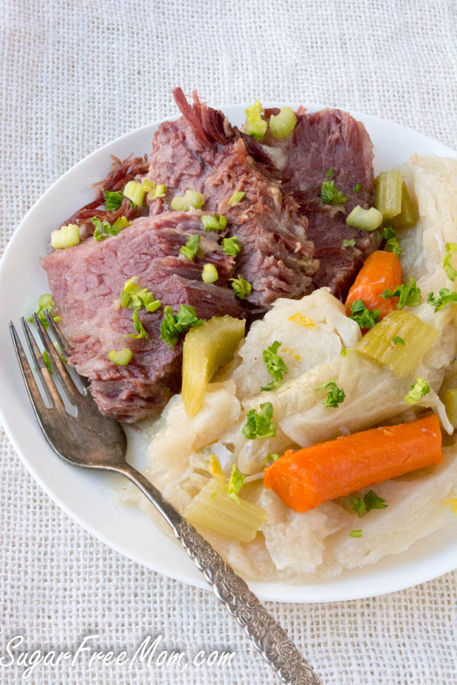 Instant Pot Corned Beef And Cabbage  Low Carb Corned Beef and Cabbage Instant Pot or Crock Pot
