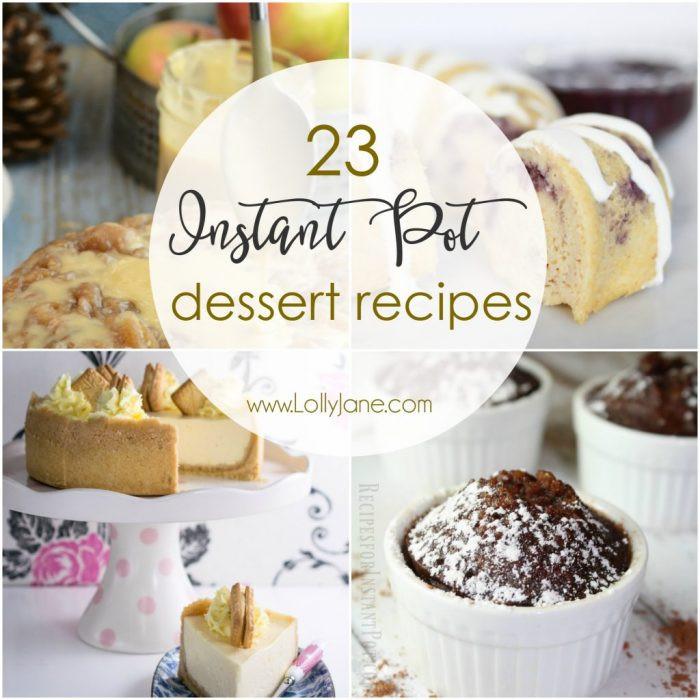 Instant Pot Dessert  23 Instant Pot Dessert Recipes Lolly Jane