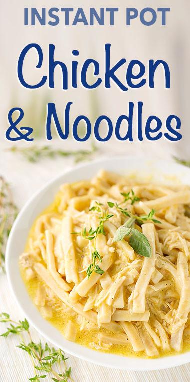 Instant Pot Frozen Chicken Recipes  Instant Pot Chicken and Noodles