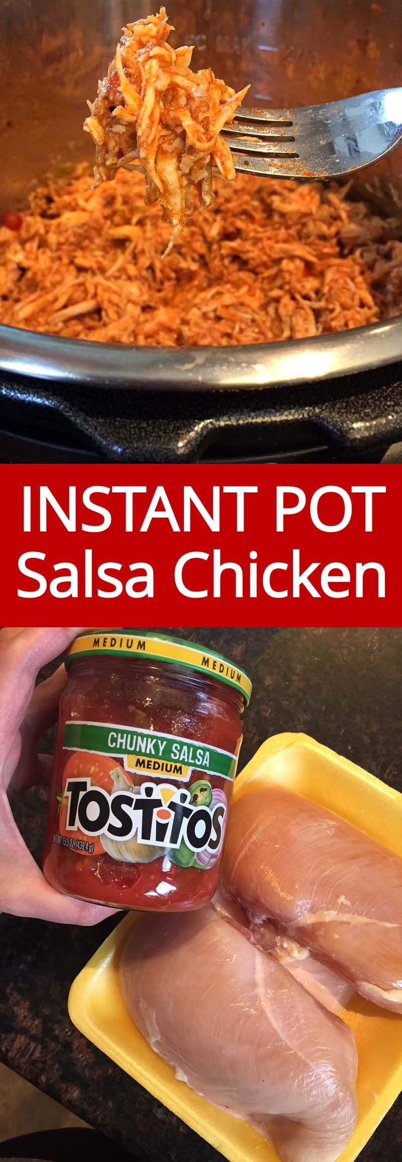 Instant Pot Frozen Chicken Recipes  Instant Pot Salsa Chicken Recipe With Fresh Frozen