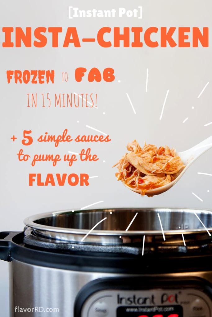 Instant Pot Frozen Chicken Recipes  [Instant Pot] Insta Chicken or how pressure cooking