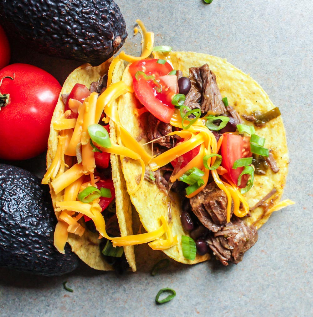 Instant Pot Ground Beef Tacos  Instant Pot Shredded Beef Tacos with Black Beans Lisa G