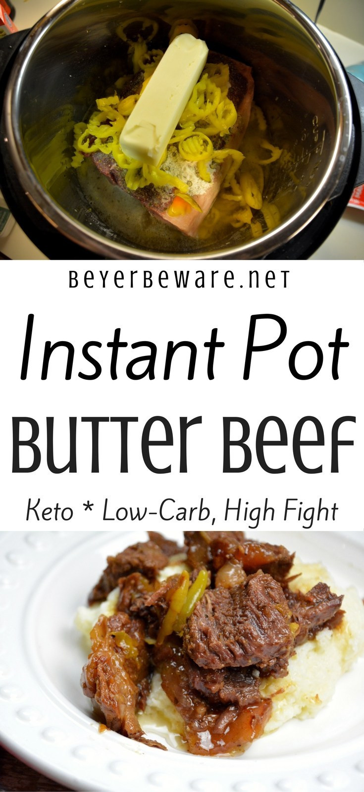 Instant Pot Low Carb Recipes  Instant Pot Butter Beef Keto Low Carb Recipe Beyer Beware