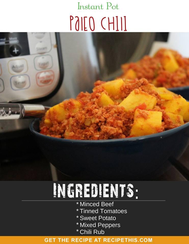 Instant Pot Paleo Recipes  Instant Pot Paleo Chili • Recipe This