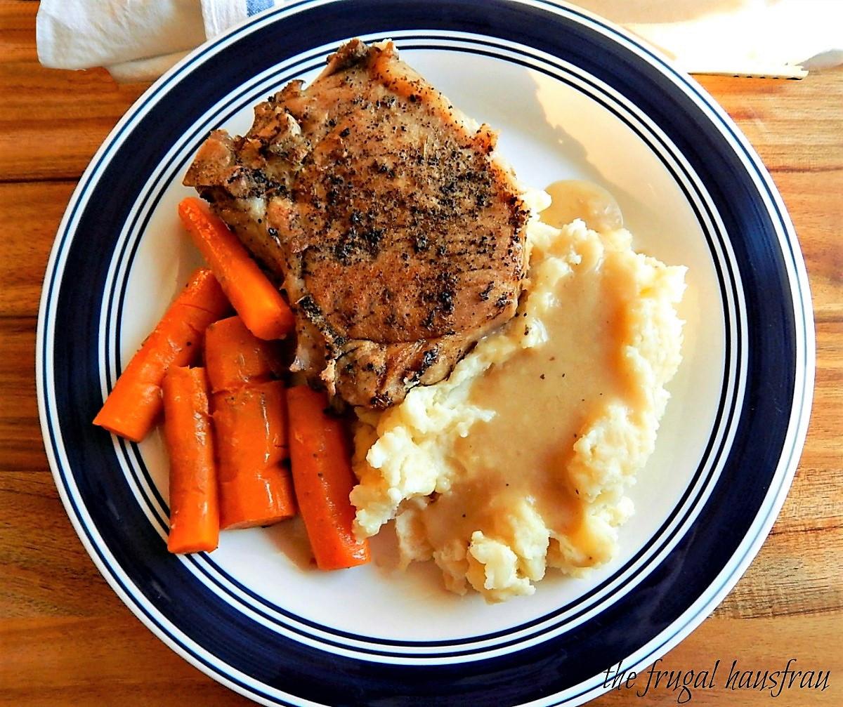 Instant Pot Pork Chops And Potatoes  Instant Pot Pork Chop e Pot Meal Frugal Hausfrau