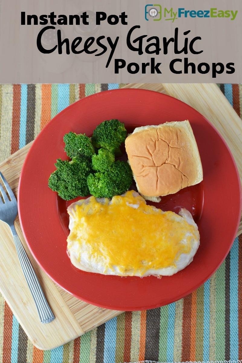 Instant Pot Pork Chops Frozen  Instant Pot Cheesy Garlic Pork Chops MyFreezEasy