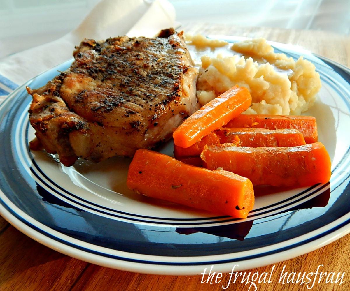 Instant Pot Pork Chops Frozen  Instant Pot Pork Chop e Pot Meal Frugal Hausfrau