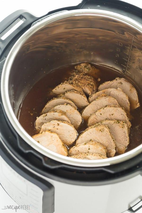 Instant Pot Pork Loin  Instant Pot Pork Tenderloin with Garlic Herb Rub The