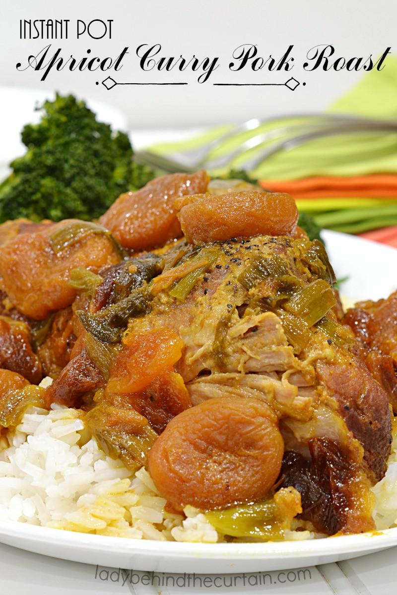 Instant Pot Pork Shoulder Roast  Instant Pot Apricot Curry Pork Roast easy dinner recipe