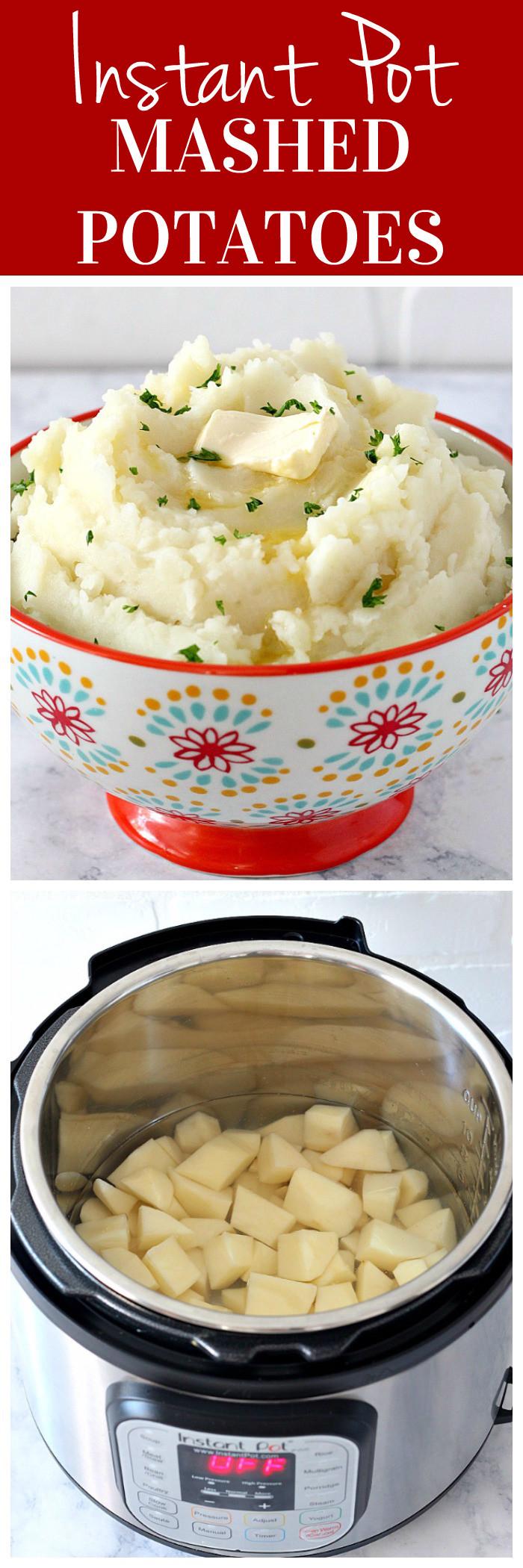 Instant Pot Potato Recipes  Instant Pot Mashed Potatoes Recipe Crunchy Creamy Sweet