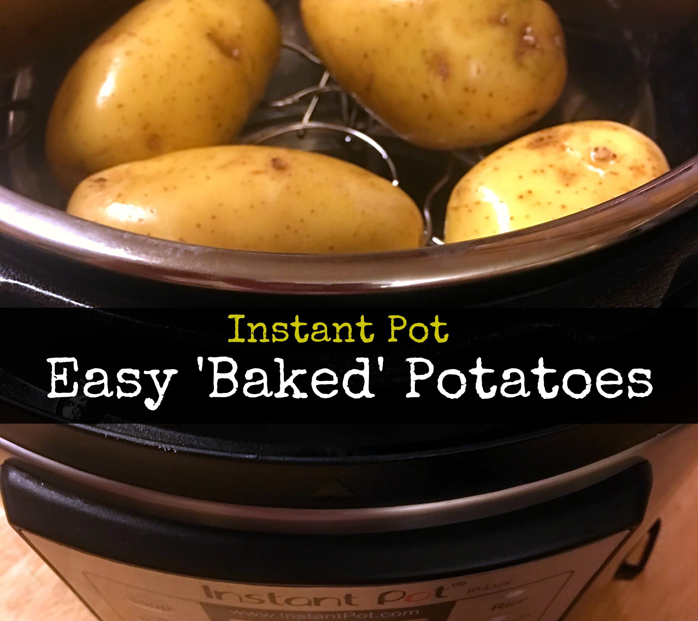 Instant Pot Potato Recipes  Instant Pot Baked Potatoes Aunt Bee s Recipes