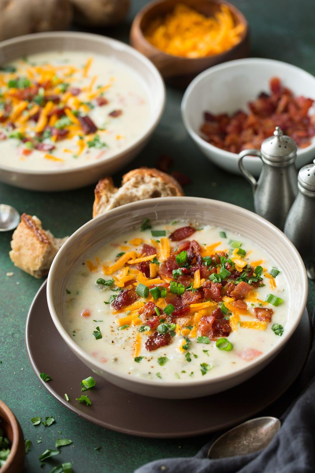 Instant Pot Potato Soup  Instant Pot Creamy Potato Soup Cooking Classy