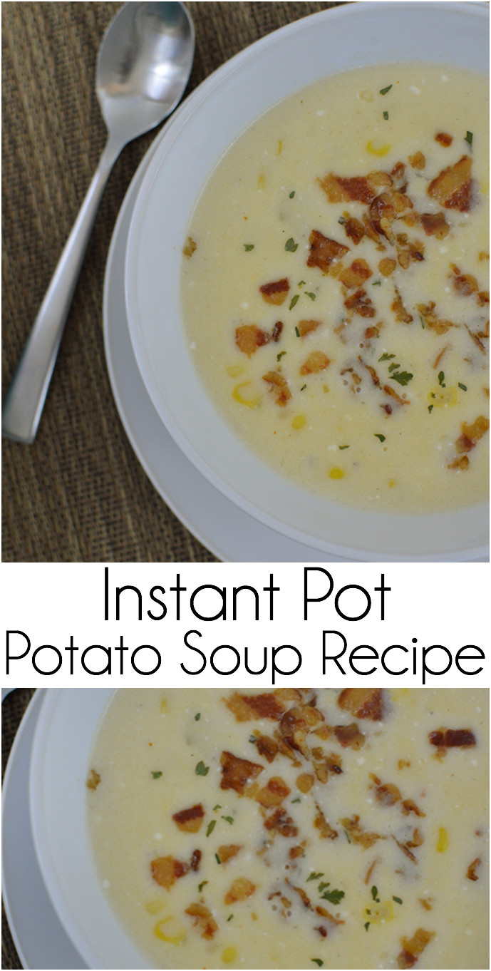 Instant Pot Potato Soup  Instant Pot Potato Soup Our Thrifty Ideas