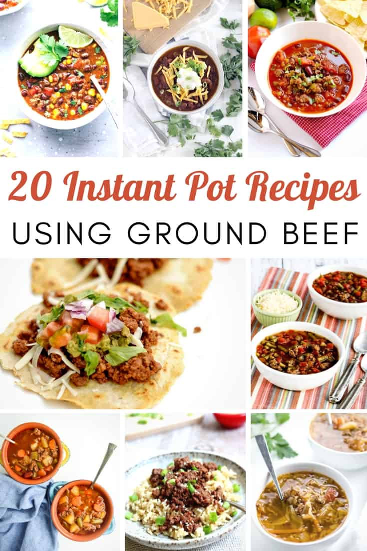 Instant Pot Recipes Ground Beef  20 Hearty Instantpot Recipes Using Ground Beef