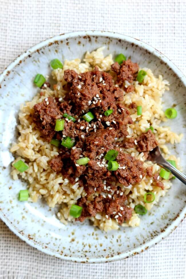 Instant Pot Recipes Ground Beef  Instant Pot Cheater Korean Beef and Brown Rice 365 Days