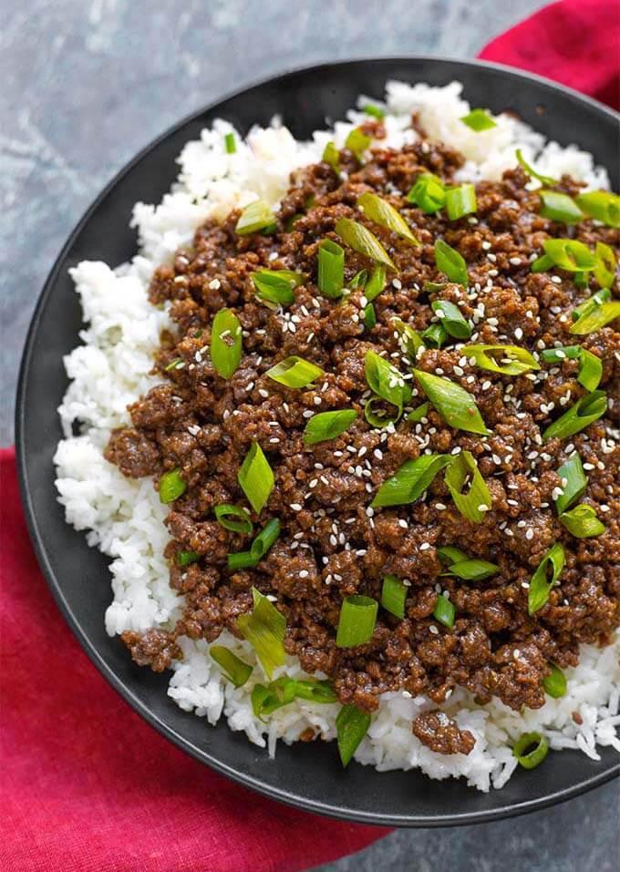 Instant Pot Recipes Ground Beef  Instant Pot Korean Ground Beef Bulgogi