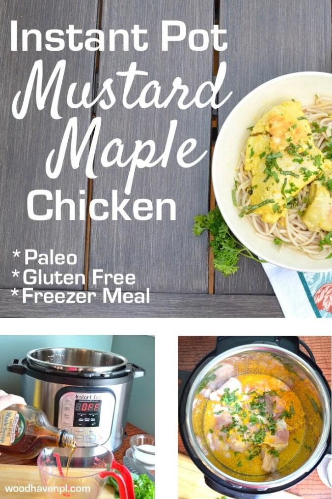 Instant Pot Recipes Paleo  RECIPE Maple Mustard Instant Pot Chicken Paleo Freezer