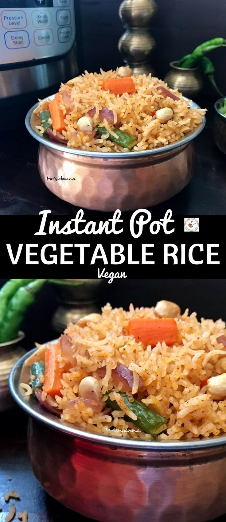 Instant Pot Recipes Vegetarian  Instant Pot Ve able Rice Simple Sumptuous Cooking