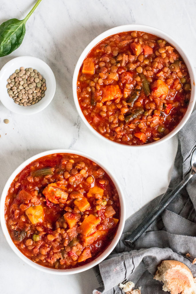 Instant Pot Recipes Vegetarian  Instant Pot Ve able Soup with Sweet Potatoes and Lentils