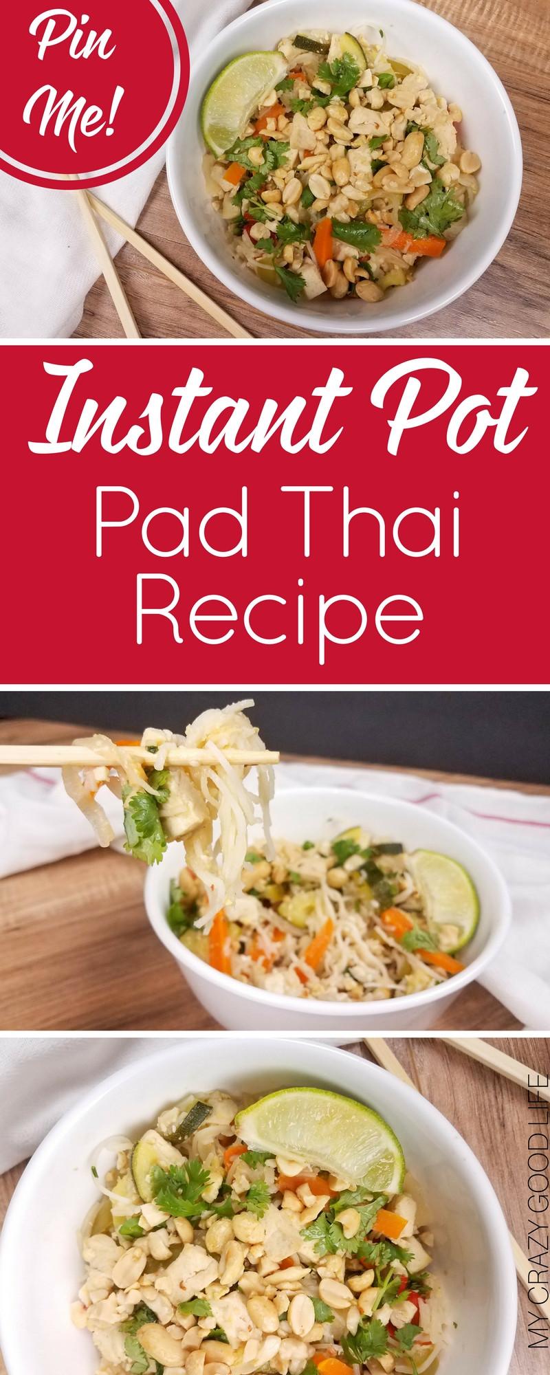Instant Pot Recipes Vegetarian  Instant Pot Pad Thai Recipe