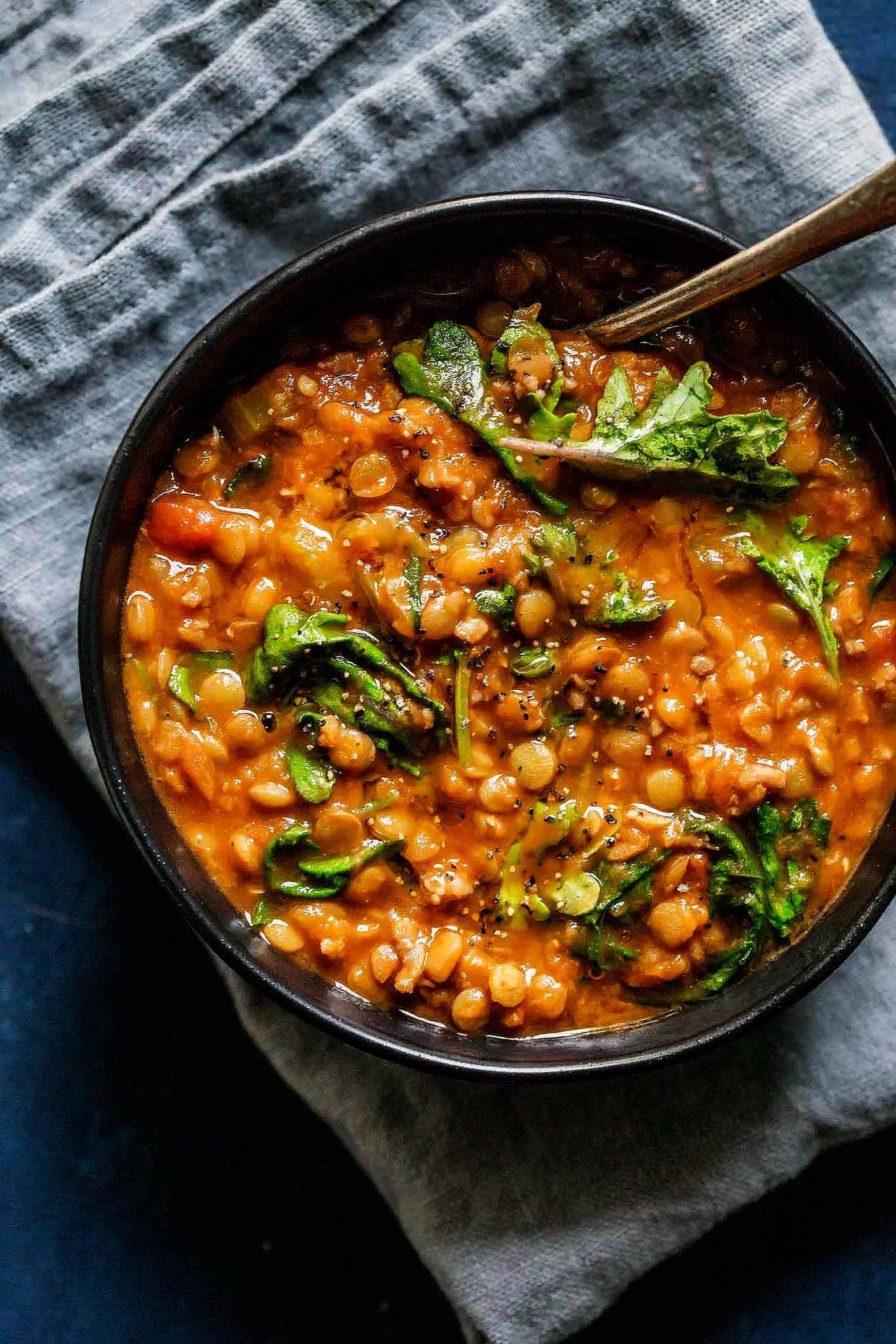 Instant Pot Recipes Vegetarian  Instant Pot Lentil Soup with Sausage & Kale