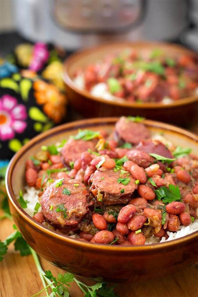 Instant Pot Red Beans And Rice  Instant Pot Red Beans and Rice with Sausage
