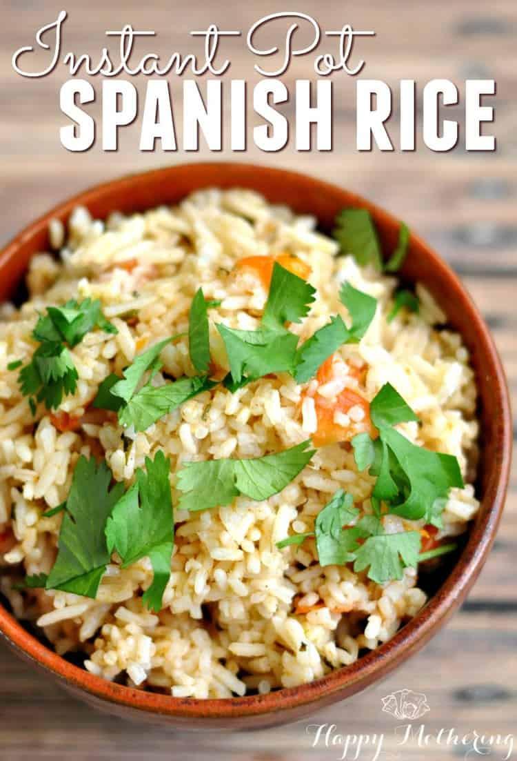Instant Pot Rice Recipes  Instant Pot Spanish Rice Recipe Happy Mothering