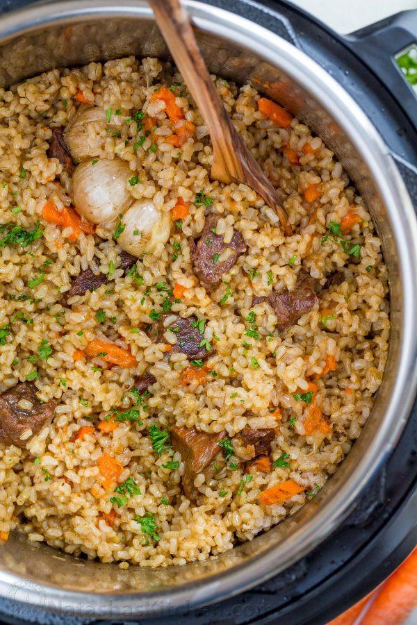 Instant Pot Rice Recipes  Instant Pot Rice Recipe Beef Plov NatashasKitchen