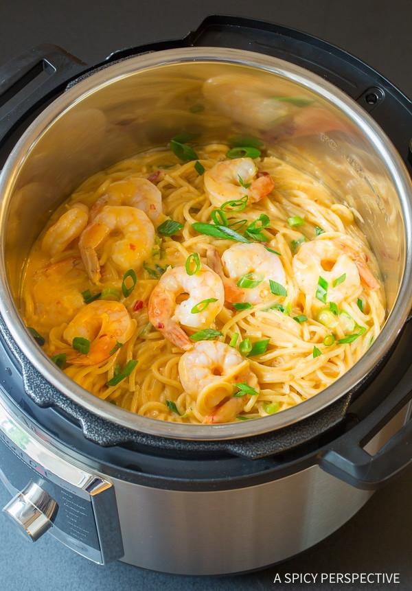 Instant Pot Seafood Recipes  Easy Instant Pot Bang Bang Shrimp Pasta Video A Spicy
