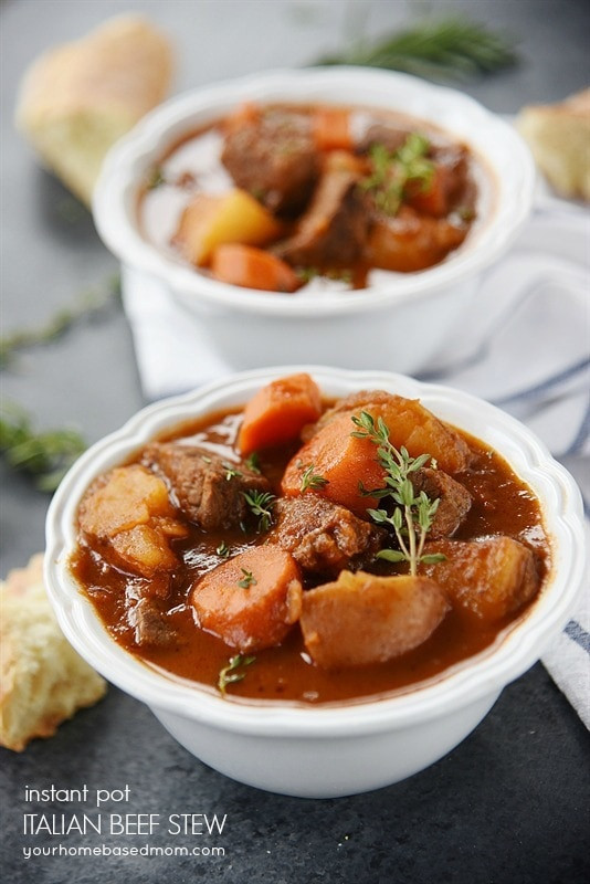 Instant Pot Stew Recipes  Italian Beef Stew for Instant Pot or Slow Cooker has a