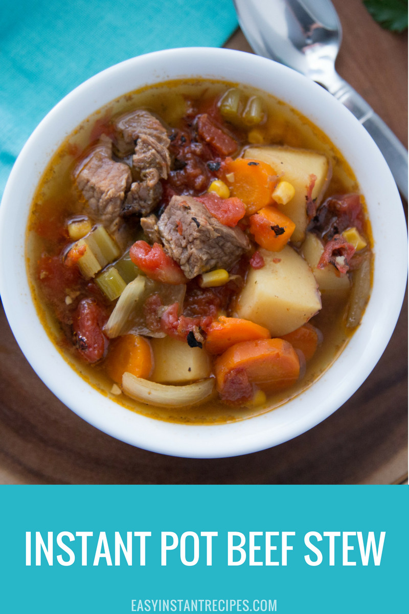 Instant Pot Stew Recipes  Easy Instant Pot Beef Stew Recipe