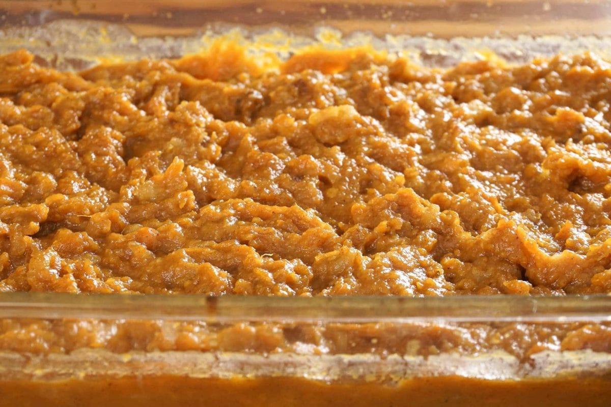 Instant Pot Sweet Potato Casserole  Sweet Potato Casserole [Instant Pot] e Happy Housewife